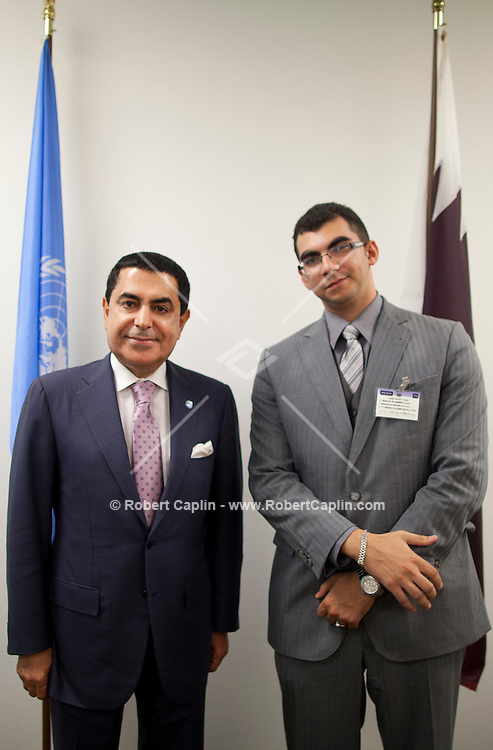 Nassir Abdulaziz Al-Nasser, President of the United Nations General Assembly  in New York. . . Photo by Robert Caplin
