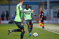 Paul Osew of Wimbledon  during the EFL Sky Bet League 1 match between Accrington Stanley and AFC Wimbledon at the Fraser Eagle Stadium, Accrington, England on 1 February 2020.