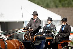 Voutaz Jerome, (SUI), Belle du Peupe, Eva III, Flash des Moulins, Flore<br /> Dressage test<br /> FEI European Championships - Aachen 2015<br /> © Hippo Foto - Dirk Caremans<br /> 20/08/15