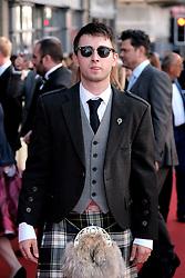 Edinburgh International Film Festival 2019<br /> <br /> Boyz In The Wood (European Premiere)<br /> <br /> Stars and guests arrive on the red carpet<br /> <br /> Pictured: Rian Gordon<br /> <br /> Alex Todd   Edinburgh Elite media