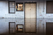 Flooded bar in Kinston, North Carolina as flood waters from Hurricane Matthew go down.