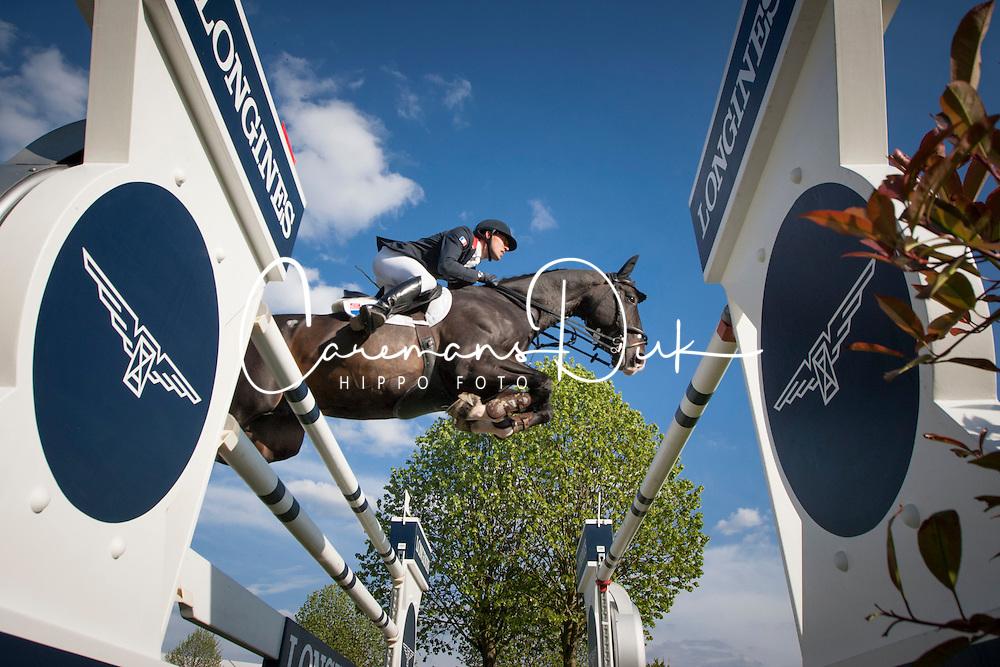 Delestre Simon, (FRA), Qlassic Bois Margot <br /> Furusiyya FEI Nations Cup of Belgium<br /> Longines Spring Classic of Flanders - Lummen 2015<br /> © Hippo Foto - Leanjo de Koster<br /> 01/05/15