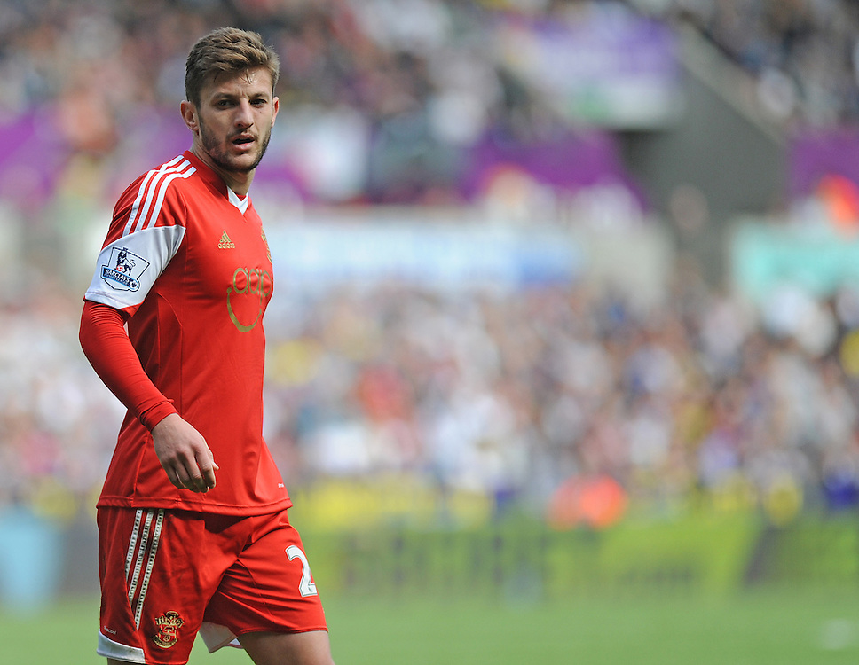 Southampton's Adam Lallana in action during todays match  <br /> <br /> Photographer Ashley Crowden/CameraSport<br /> <br /> Football - Barclays Premiership - Swansea City v Southampton - Saturday 03rd May 2014 - Liberty Stadium - Swansea<br /> <br /> © CameraSport - 43 Linden Ave. Countesthorpe. Leicester. England. LE8 5PG - Tel: +44 (0) 116 277 4147 - admin@camerasport.com - www.camerasport.com