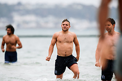 Ian Madigan looks on as Bristol Rugby take part in a morning after game recovery session in the sea - Rogan/JMP - 29/10/2017 - RUGBY UNION - Jersey Marine Lake - St Helier, Jersey - Jersey Reds v Bristol Rugby - Greene King IPA Championship.
