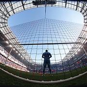 Goalkeeper Bill Hamid, D.C. United, in action during the New York Red Bulls Vs D.C. United Major League Soccer regular season match at Red Bull Arena, Harrison, New Jersey. USA. 22nd March 2015. Photo Tim Clayton