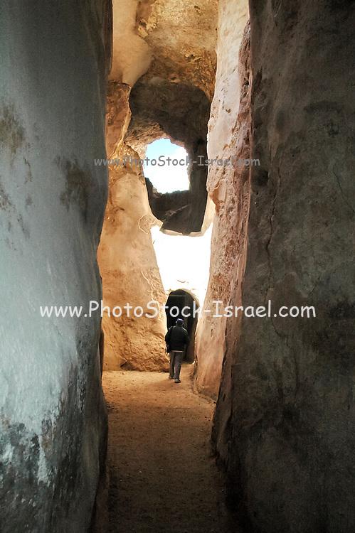 Underground Water Cisterns at Zippori National Park Israel. A mishnaic-period city with an abundance of mosaics