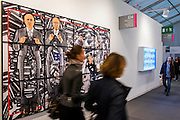 Cycle by Gilber and George at White Cube - Frieze London 2014, Regents Park, London, 14 Oct 2014.