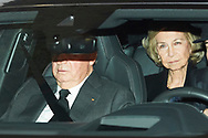 King Juan Carlos of Spain, The former Queen Sofia, Princess Irene of Greece attends Princess PIlar Borbon funeral chapel  installed in the Gomez-Acebo house on January 8, 2020 in Madrid, Spain