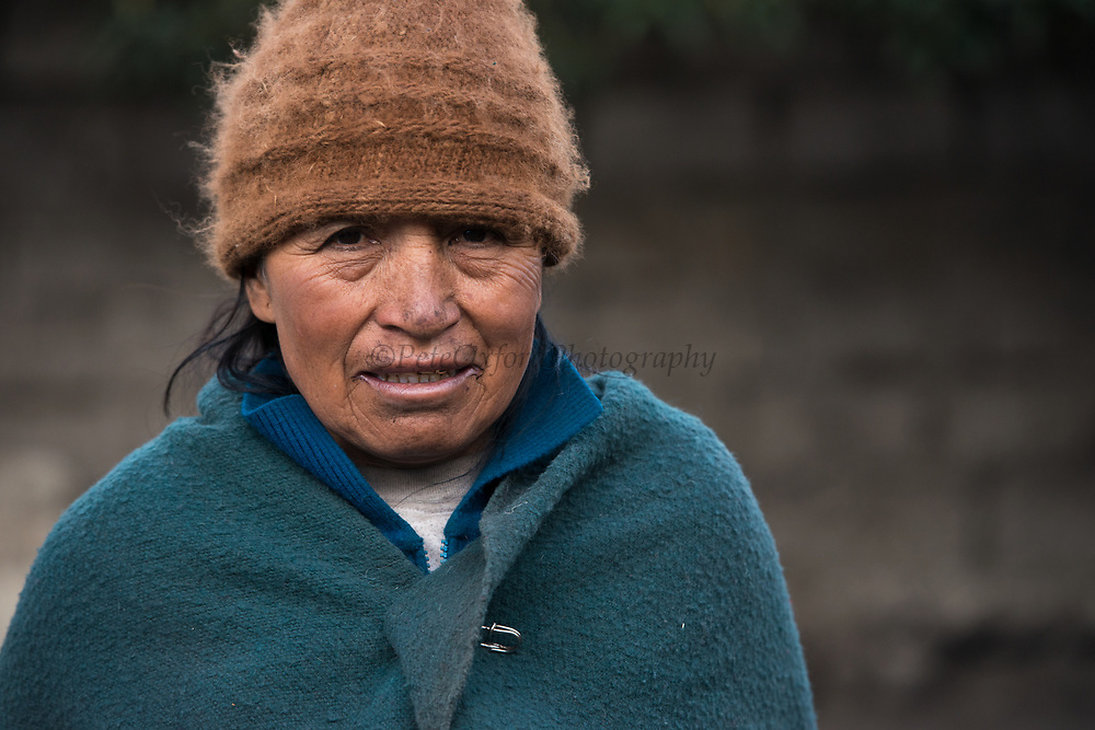 Indian woman Agustina Guaman<br /> Pulingue San Pablo community<br /> Chimborazo Province<br /> Andes<br /> ECUADOR, South America