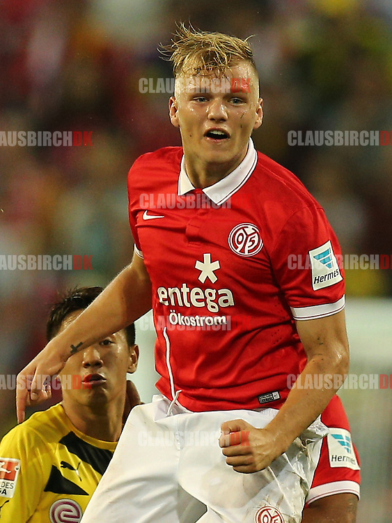 FOOTBALL: Johannes Geis (1. FSV Mainz 05) during the Bundesliga match between 1. FSV Mainz 05 and Borussia Dortmund at Coface Arena on September 20, 2014 in Mainz, Germany. Photo: Claus Birch.