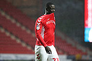 Charlton Athletic defender Naby Sarr (23) red card, sent off during the EFL Sky Bet League 1 match between Charlton Athletic and AFC Wimbledon at The Valley, London, England on 15 December 2018.