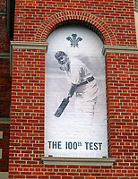 Cricket - 2017 South Africa Tour of England - Third Test, Day One<br /> <br /> The 100th test v South Africawith a photo of W G Grace at the main entrance during the morning session, at The Oval.<br /> <br /> COLORSPORT/ANDREW COWIE