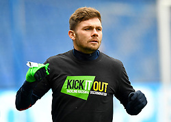 Birmingham City's Harlee Dean warms up ahead of the match