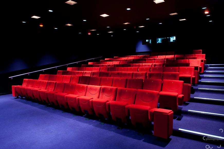 Cinema interior photographed for marketing brochure.