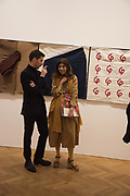 ARNE GLIMCHER; TAMARA CORM, The Critical Edge, private view of work by Richard Tuttle,Pace,  London. 12 April 2017