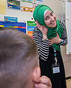 First day of class at the Arabic Immersion Magnet School, August 24, 2015.
