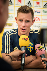 July 4, 2018 - Gelendzhik, Russia - 180704 Emil Krafth of the Swedish national football team in the mixed zone during the FIFA World Cup on July 4, 2018 in Gelendzhik..Photo: Petter Arvidson / BILDBYRÃ…N / kod PA / 92081 (Credit Image: © Petter Arvidson/Bildbyran via ZUMA Press)