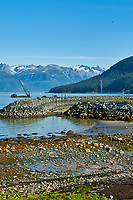 Haines Beach and Harbor Panorama. Image 8 of 11 images taken with a Nikon D300 camera and 18-200 mm VR lens (ISO 400, 34 mm, f/11, 1/500 sec). Raw images processed with Capture One Pro. Composite panorama created using AutoPano Giga.