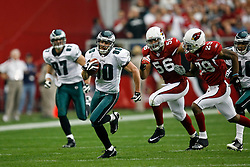 18 Jan 2009: Philadelphia Eagles wide receiver Kevin Curtis #80 carries the ball during the NFC Championship game against the Arizona Cardinals on January 18th, 2009. The Cardinals won 32-25 at University of Phoenix Stadium in Glendale, Arizona. (Photo by Brian Garfinkel)