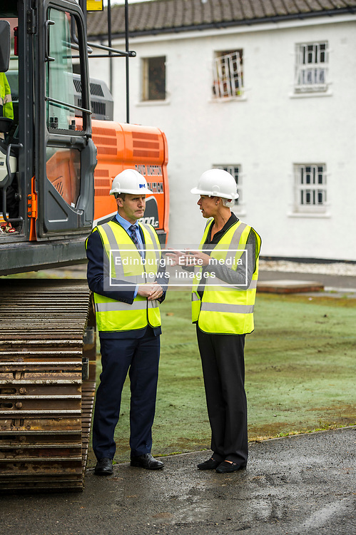 """Pictured: Michael Matheson and governor Caroline Johnstone<br /> Justice Secretary Michael Matheson joined governor Caroline Johnstone to mark the start of demolition of Corton Vale Prison today. Cornton Vale is a women's prison in Stirling, operated by the Scottish Prison Service. Built in 1975, Cornton Vale comprises a total of 217 cells in its 5 houses. Ministers decided to close the prison after former Lord Advocate Elish Angiolini warned it was """"not fit for purpose"""".<br />  <br /> Ger Harley 