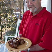 Fred Noe, Master Distiller of Jim Beam, Grilling his Bourbon Pork Loin