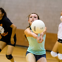 081213       Brian Leddy<br /> Gallup High School volleyball player Patricia Lasiloo practices with the team Monday.
