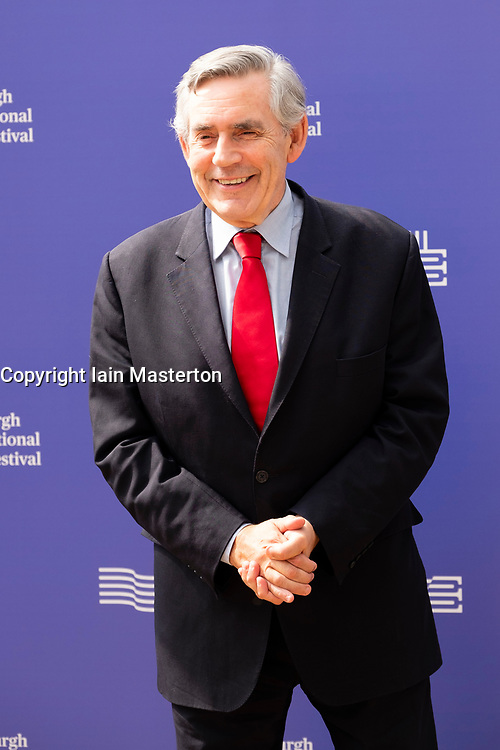 """Edinburgh, Scotland, UK; 15 August, 2018. Pictured; Former Prime Minister Gordon Brown promoting his political autobiography """" My Life, Our Times""""."""