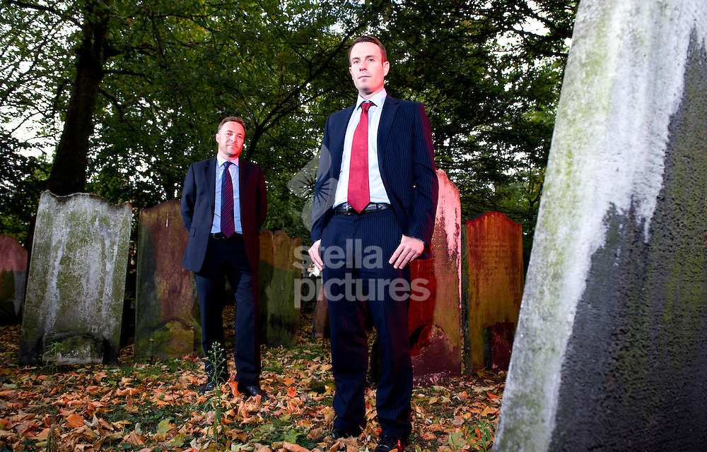 Picture by Daniel Hambury. .26/9/11.Michael Axelgaard, Director, (right) and Matthew Holt, Producer, who have made a film called Hollow.