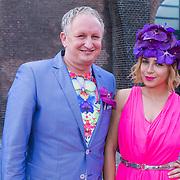 NLD/Amsterdam/20130714 - AFW 2013 Zomer, modeshow Tony Cohen inloop, Victoria Koblenko met ontwerper