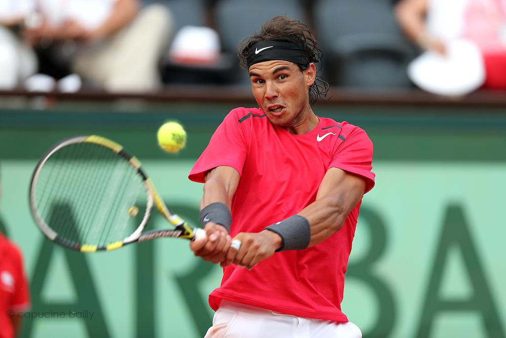 Roland Garros. Paris, France. June 2nd 2012.Spanish player Rafael NADAL against Eduardo SCHWANK.
