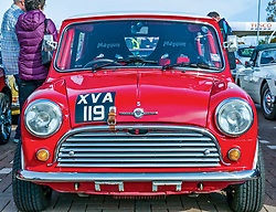 Pictured: Classic Car Rally. North Berwick, East Lothian, 28 April 2019. North Berwick Rotary Club holds its 3rd rally with 65 class cars entered. The oldest date back to 1958 (a Bentley and a Mini). Entrants come from all over Scotland, and even from Southern England. The drive takes them through Northumberland and Scottish Borders before returning to Archerfield estate, raising money for local charities, including Muirfield Riding Therapy, The Vine Trust and Maggie's Centres.<br /> Sally Anderson | EdinburghElitemedia.co.uk