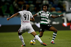 October 22, 2017 - Lisbon, Portugal - Sporting's forward Gelson Martins (R) vies for the ball with Chaves's midfielder Davidson (L)  during Primeira Liga 2017/18 match between Sporting CP vs GD Chaves, in Lisbon, on October 22, 2017. (Credit Image: © Carlos Palma/NurPhoto via ZUMA Press)