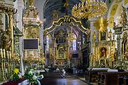 Wnętrze Bazyliki Świętego Mikołaja w Bochni.<br /> Interior of St. Nicholas Basilica in Bochnia.
