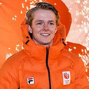 NLD/Amsterdam/20180226 - Thuiskomst TeamNL, Niek van der Velden