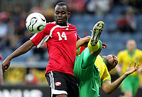 Fotball<br /> Treningskamp foran VM 2006<br /> Graz - 27.05.2006<br /> Wales v Trinidad og Tobago<br /> Foto: Gepa/Digitalsport<br /> NORWAY ONLY<br /> <br /> Stern John (TRI) und Danny Gabbidon (WAL)