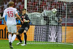 12.06.2012, Nationalstadion, Warschau, POL, UEFA EURO 2012, Polen vs Russland, Gruppe A, im Bild PRZEMYSLAW TYTON (POL) WPUSZCZA GOLA, BRAMKA DLA ROSJI // during the UEFA Euro 2012 Group A Match between Poland and Russia at the National Stadium Warsaw, Poland on 2012/06/12. EXPA Pictures © 2012, PhotoCredit: EXPA/ Newspix/ Tomasz Jastrzebowski..***** ATTENTION - for AUT, SLO, CRO, SRB, SUI and SWE only *****