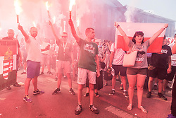 August 1, 2018 - Wroclaw, Poland - Anniversary of the Warsaw Uprising of 1944 against the German-Nazi occupation of Warsaw during World War II. (Credit Image: © Krzysztof Kaniewski via ZUMA Wire)