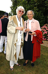"Left to right, BRONWEN, VISCOUNTESS ASTOR and the DUCHESS OF RICHMOND & GORDON at the Goodwood Festival of Speed on 9th July 2006.  Cartier sponsored the ""Style Et Luxe' for vintage cars on the final day of this annual event at Goodwood House, West Sussex and hosted a lunch.<br />