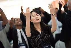 """8 March 2018, Arusha, Tanzania: From 8-13 March 2018, the World Council of Churches organizes the Conference on World Mission and Evangelism in Arusha, Tanzania. The conference is themed """"Moving in the Spirit: Called to Transforming Discipleship"""", and is part of a long tradition of similar conferences, organized every decade. Here, the gathering service."""