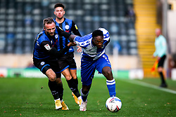 Brandon Hanlan of Bristol Rovers takes on Ryan McLaughlin of Rochdale - Mandatory by-line: Robbie Stephenson/JMP - 31/10/2020 - FOOTBALL - Crown Oil Arena - Rochdale, England - Rochdale v Bristol Rovers - Sky Bet League One