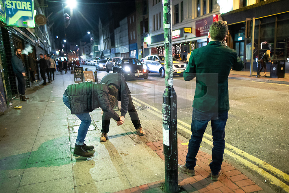 © Licensed to London News Pictures . 27/10/2018. Manchester, UK. Revellers on a night out , many in fancy dress , in the Northern Quarter of Manchester City Centre , on the weekend before Halloween . Photo credit: Joel Goodman/LNP