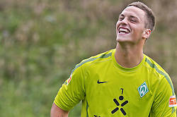 30.07.2010, Thermenstadion, Bad Waltersdorf, AUT, Trainingslager Werder Bremen 1. FBL 2010 - Day03 im Bild     Marko Arnautovic (Werder #07 ) lacht EXPA Pictures © 2010, PhotoCredit: EXPA/ nph/  Kokenge+++++ ATTENTION - OUT OF GER +++++ / SPORTIDA PHOTO AGENCY