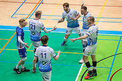 Steven Ottevanger of Lycurgus, Bennie Tuinstra of Lycurgus, Luke Herr of Lycurgus, Thomas Douglas Powell of Lycurgus, Dennis Borst of Lycurgus during the league match between Active Living Orion vs. Amysoft Lycurgus on March 20, 2021 in Doetinchem.
