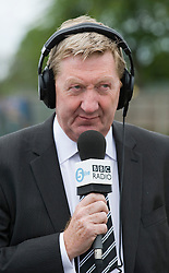 © licensed to London News Pictures. 12/05/2011. Bedfont, UK.  Unite general secretary Len McCluskey  during a 5 Live radio interview at Bedfont Football club today (12/05/2011).  British Airways and the Unite union have reached an agreement to settle their long-running industrial dispute. A mass meeting of Unite members voted almost unanimously to put a new deal to a ballot of around 7,000 workers, with a recommendation to accept. See special instructions for usage rates. Photo credit should read Ben Cawthra/LNP