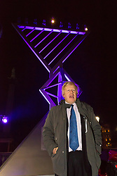 © Licensed to London News Pictures. 16/12/2014. London, UK. Boris Johnson at the lighting of a Menorah, Chanukah Ceremony in Trafalgar Square, London to celebrate Chanukah (Hanukkah), the eight-day Jewish Festival of Lights. Photo credit : Vickie Flores/LNP