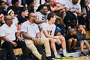 NORTH AUGUSTA, SC. July 10, 2019. Fans enjoy the game at Nike Peach Jam in North Augusta, SC. <br /> NOTE TO USER: Mandatory Copyright Notice: Photo by Alex Woodhouse / Jon Lopez Creative / Nike