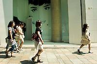 Fashionable Japanese Young Women on Omotesando Street, Harajuku