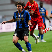 NLD/Amsterdam/20080808 - LG Tournament 2008 Amsterdam, FC Internazionale v Sevilla FC, jesus navas Gonzales in duel met  Maxwell