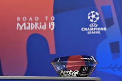 NYON, SWITZERLAND - Monday, December 17, 2018: A general view ahead of the UEFA Champions League 2018/19 Round of 16 draw at the UEFA House of European Football. (Handout by UEFA)
