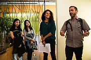 """SAN FRANCISCO, CA – SEPTEMBER 15, 2017: Incoming freshmen in the class of 2021 tour the San Francisco office of Gensler, a world-renowned architecture and design firm, followed by a discussion about reimagining civic spaces. """"Co-curricular"""" programs like these are organized weekly in each global city as a compliment to the students' coursework, and are designed to facilitate active learning through the civic partnerships. Consistent with the """"flipped"""" classroom model, these experiential learning components are an embodiment of the Minerva ethos, where the city is the classroom. For incoming freshmen, San Francisco is the first of eight global cities to serve as a backdrop for their undergraduate education.<br /> <br /> Minerva is a unique 21st century university built on a global four-year education model. It is deliberately designed to enhance intellectual growth and prepare students for success in today's rapidly changing global context. Founded in 2014, the university targets the developing world's rising middle class who seek an elite American education. With a 2.8% acceptance rate among the founding class, Minerva is the most selective undergraduate program in U.S. history."""